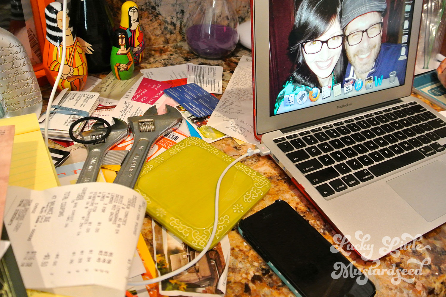 My office nook is VERY messy – a complete cluster of oblivion.