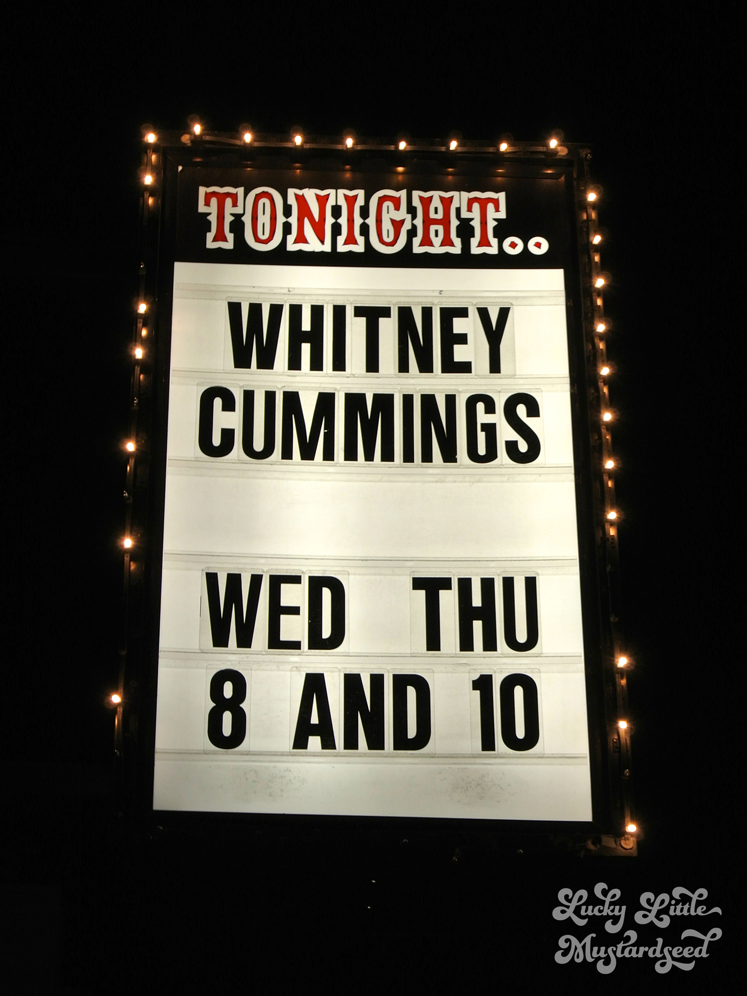 Whitney Cummings Marquee
