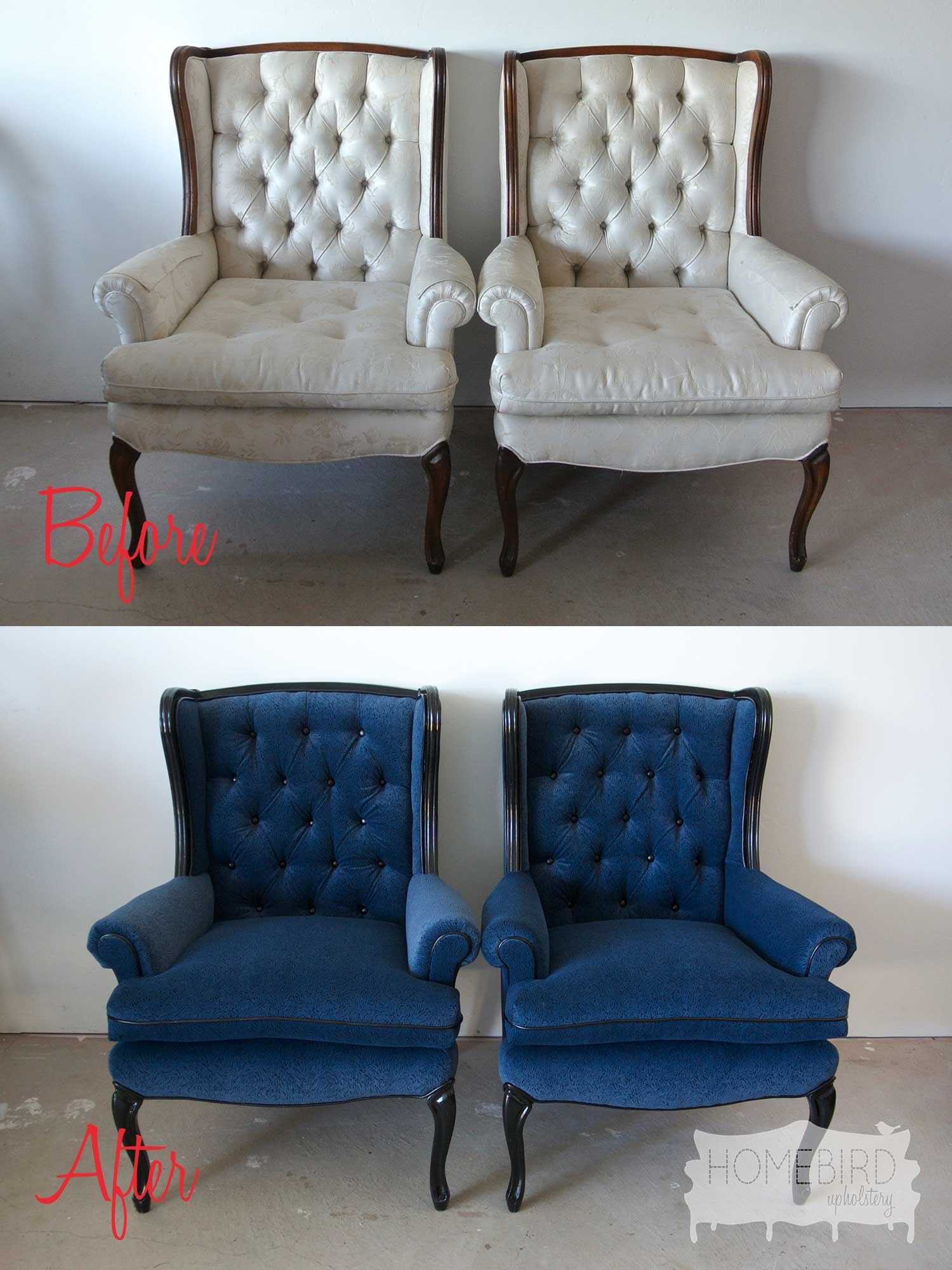 Before & After: Tufted Ladies