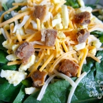 Spinach Salad with Pork Croutons