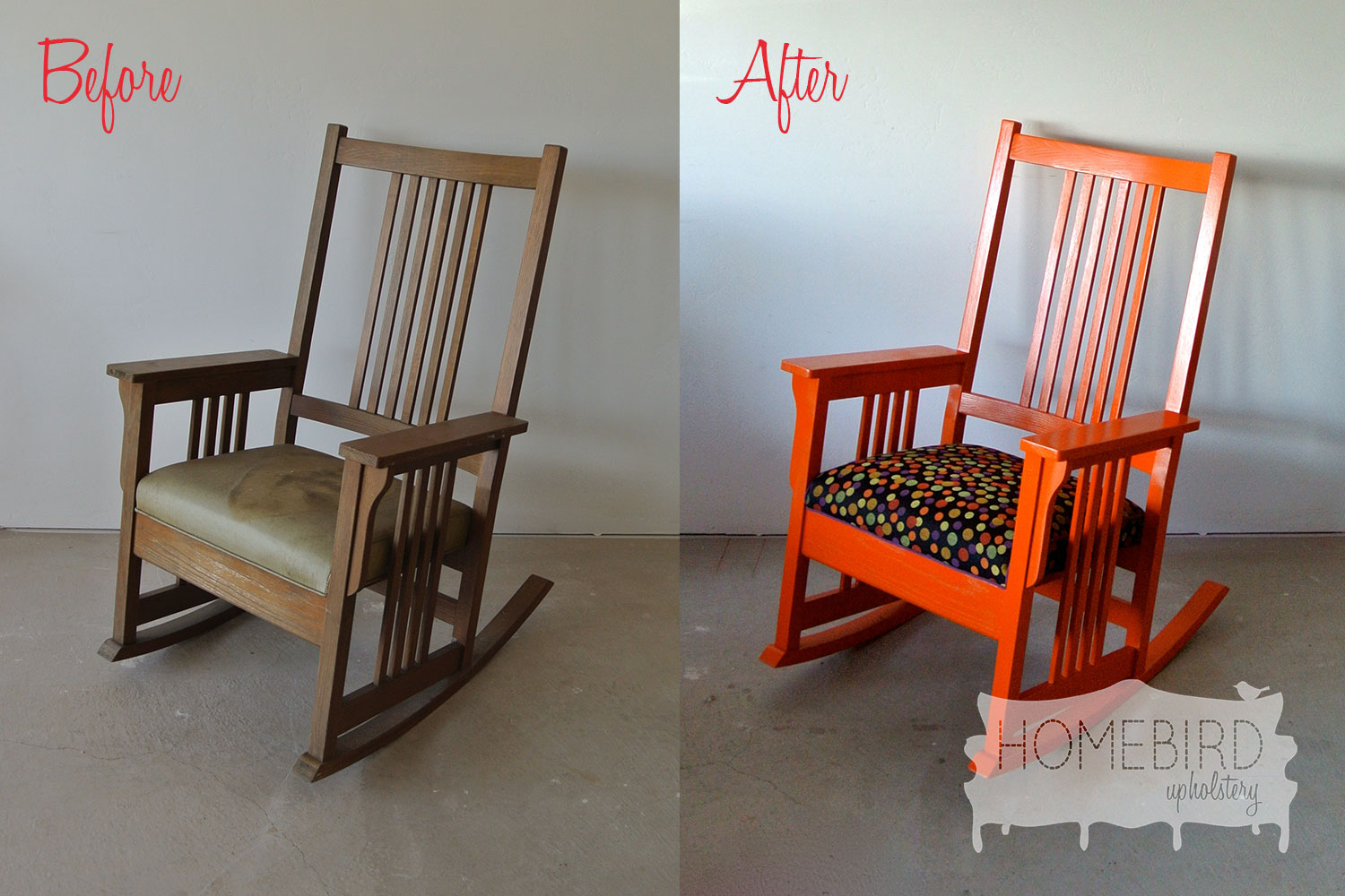 Before & After: Mission-Styled Rocking Chair