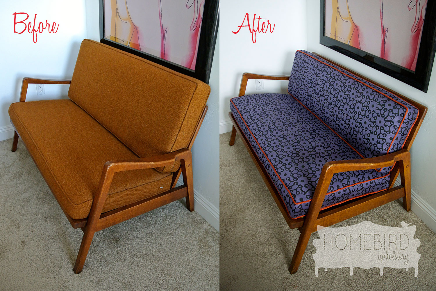 Before & After: An Imperfect Loveseat