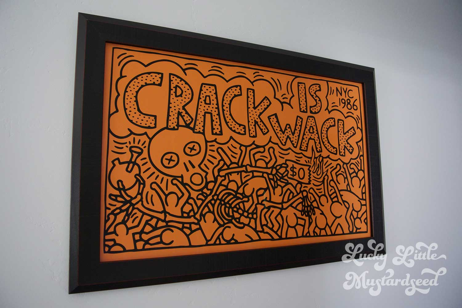 Crack is wack lucky little mustardseed for Crack is wack keith haring mural