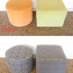 Before & After: Circle Square Ottomans