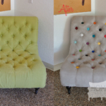 Before & After: Tufted Chair of Many Colorful Buttons