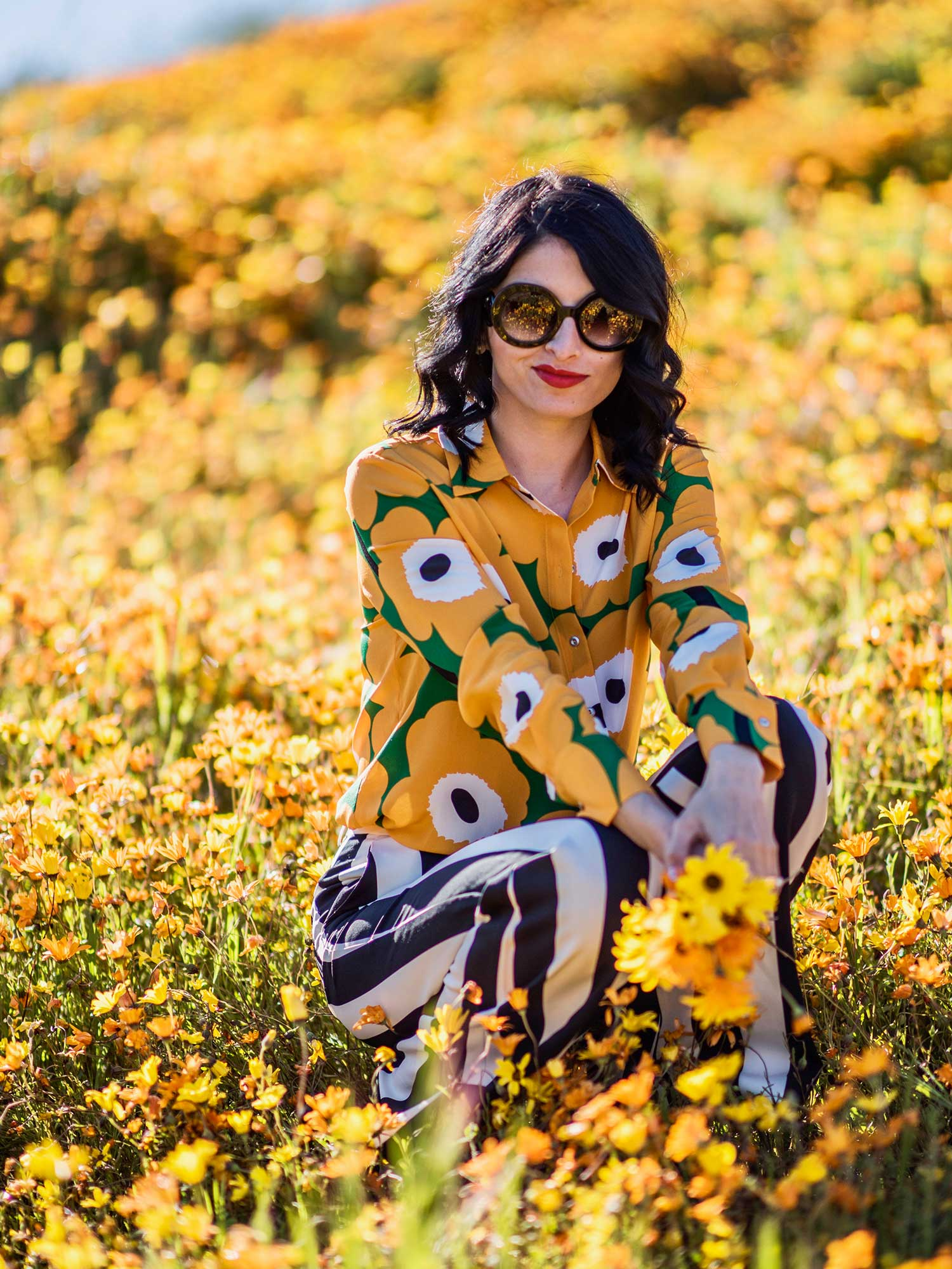 Jenna-Pilant-Style-Blogger-Lucky-Little-Mustardseed-Spring-Fashion-2017-Marimekko-Shirt-with-Alice-and-Olivia-Pants-4