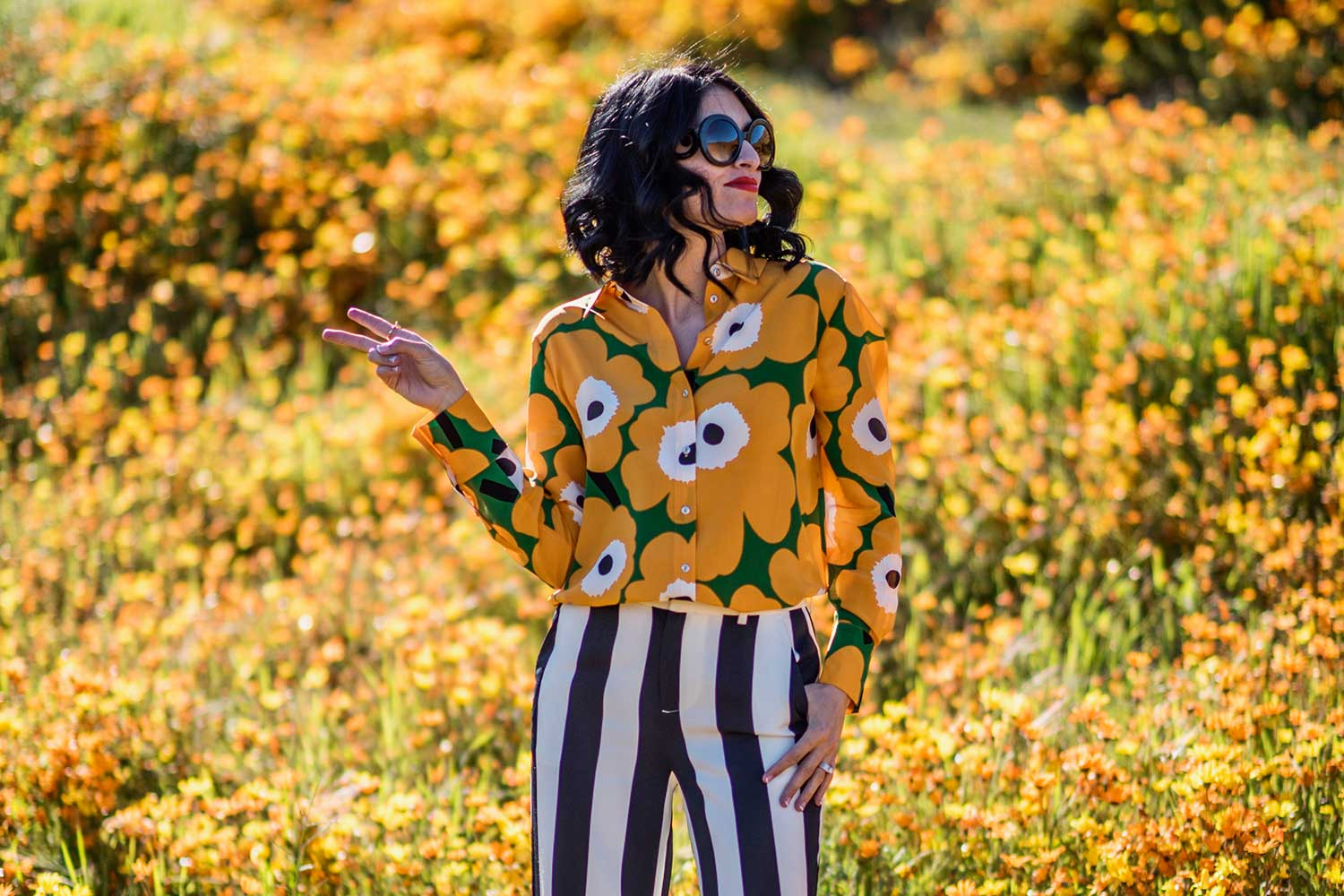 Jenna-Pilant-Style-Blogger-Lucky-Little-Mustardseed-Spring-Fashion-2017-Marimekko-Shirt-with-Alice-and-Olivia-Pants-7