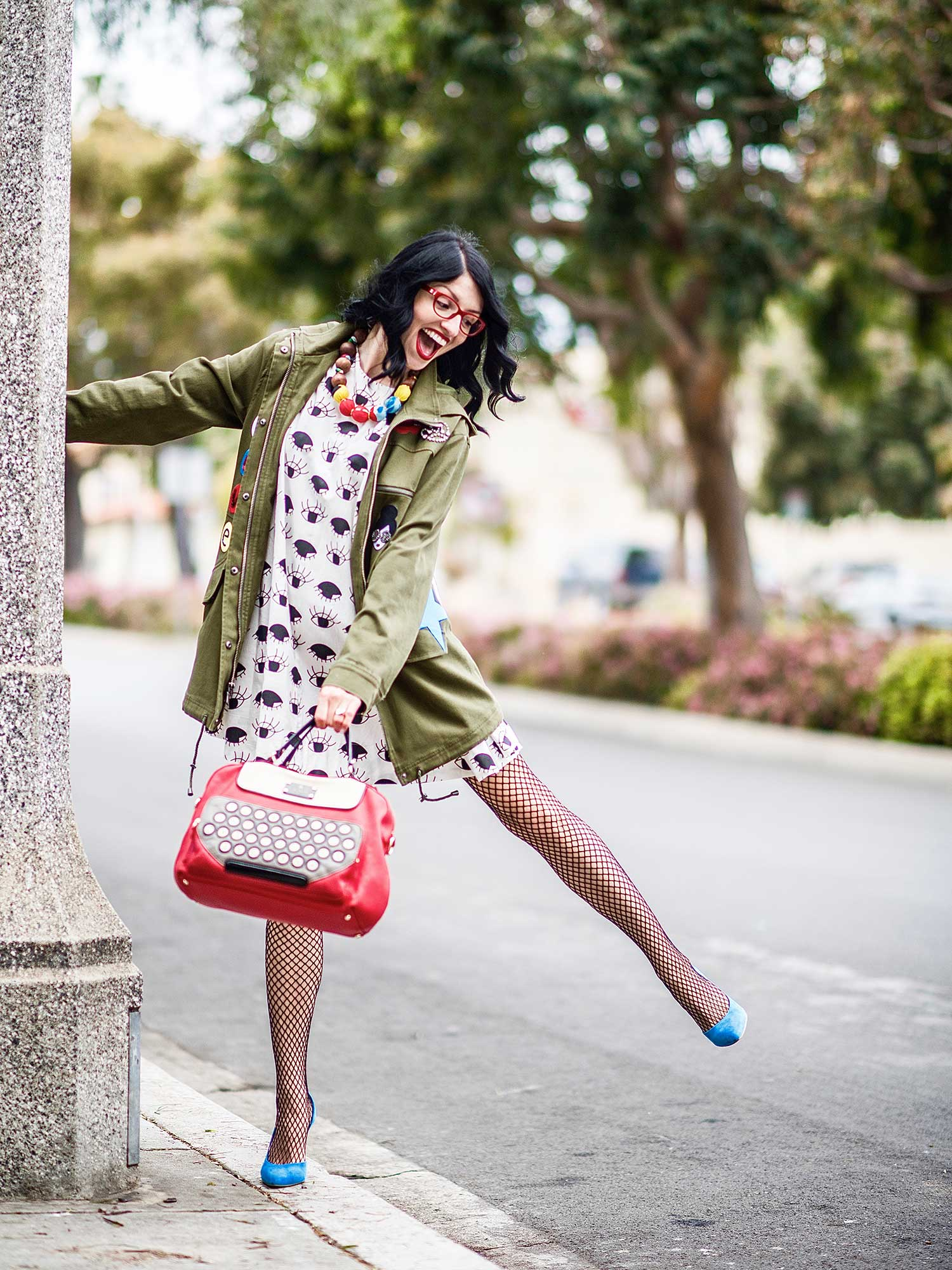 Jenna-Pilant-San-Diego-Style-Blogger-Lucky-Little-Mustardseed-How-To-Wear-A-Rain-Jacket-With-A-Dress-1