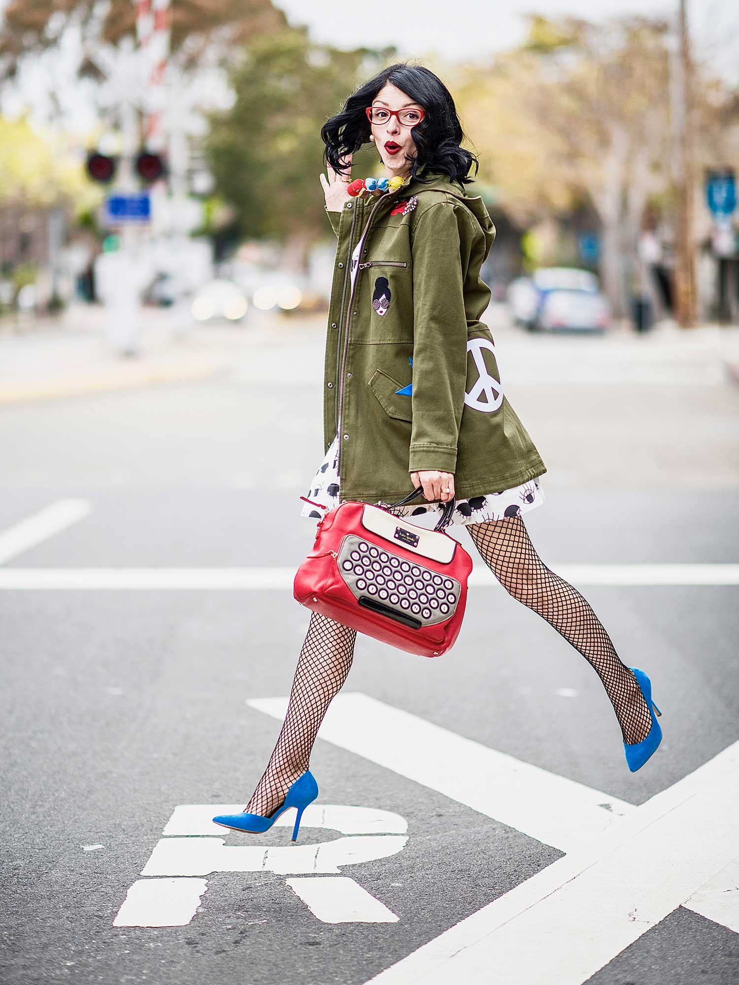 Jenna-Pilant-San-Diego-Style-Blogger-Lucky-Little-Mustardseed-How-To-Wear-A-Rain-Jacket-With-A-Dress-3