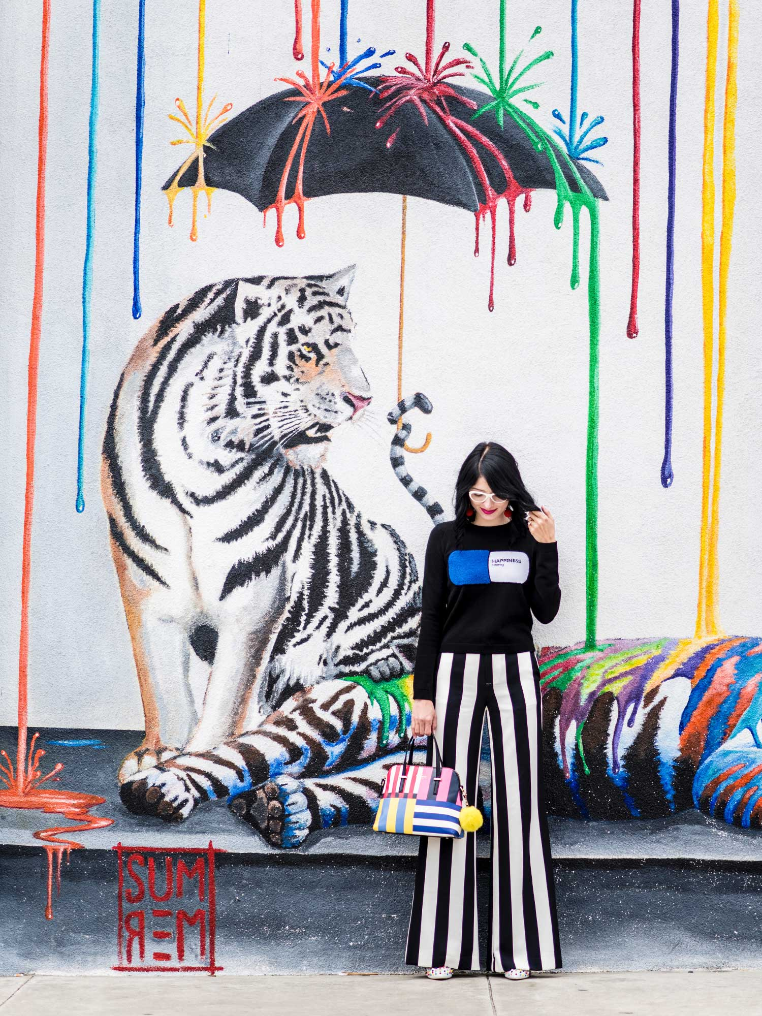 Jenna-Pilant-San-Diego-Style-Blogger-Lucky-Little-Mustardseed-How-To-Wear-Black-&-White-Striped-Pants-1