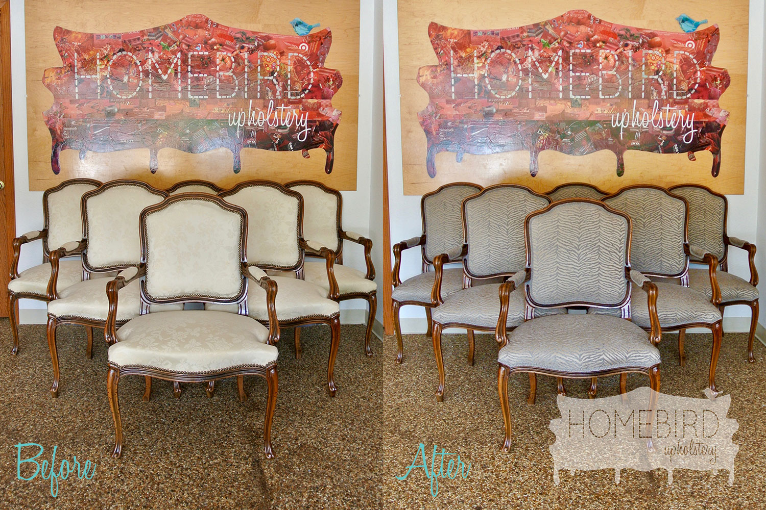 How do you reupholster dining room chairs