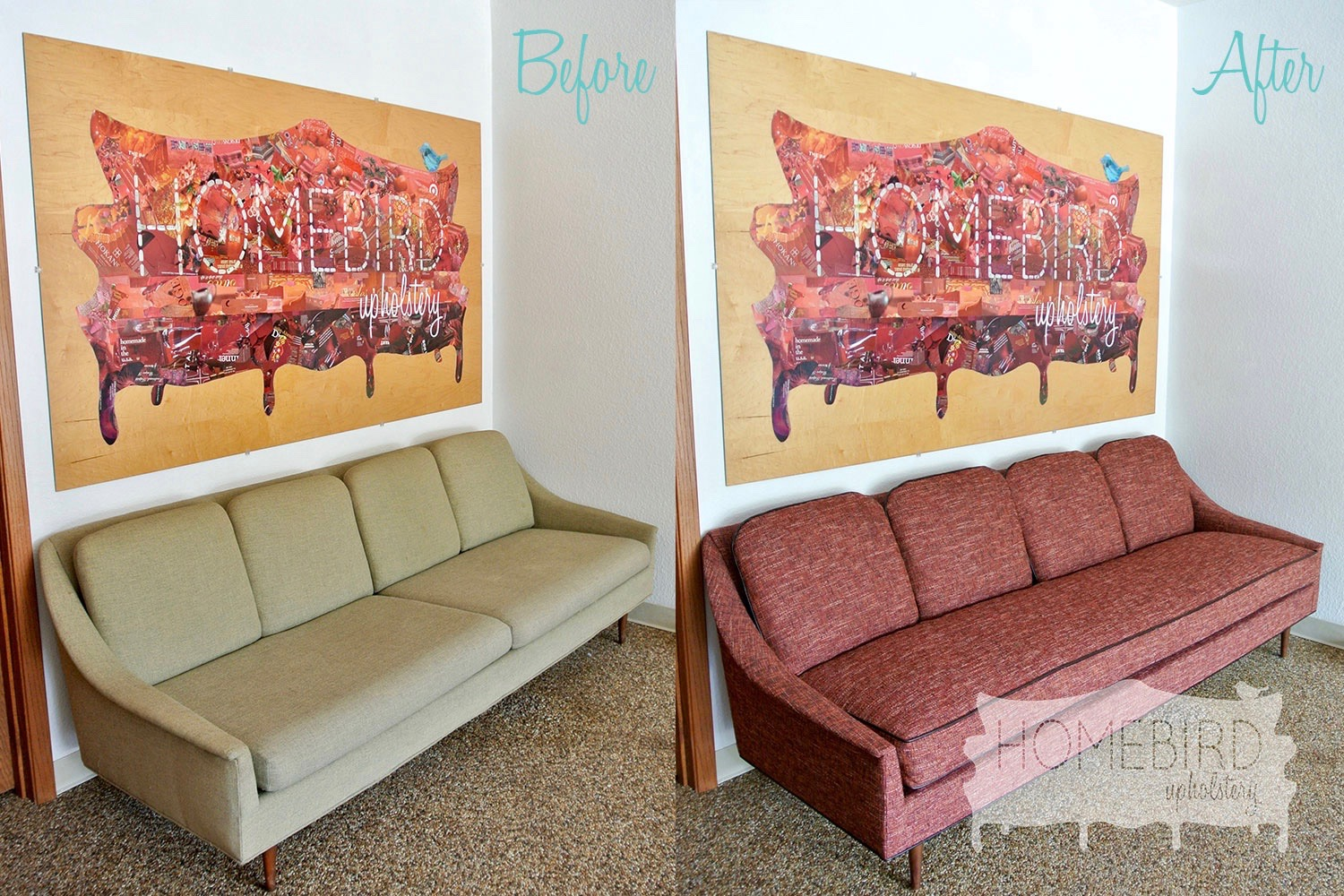 Jenna-Pilant-Upholstery-Artist-Homebird-Upholstery-Before-&-After-Angle-View-Midcentury-Modern-Tweed-Couch 2